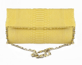 Bag in Python yellow Medium