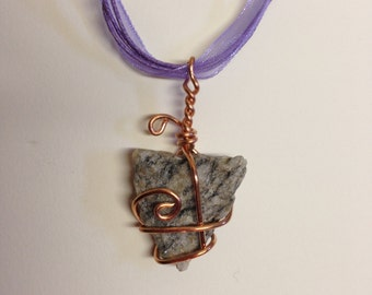 Stone and Copper Necklace