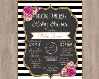 Baby Shower Poster, Baby shower mom to be poster, Baby shower Welcome Sign, Baby Shower Chalkboard Poster Sign, Baby shower sign