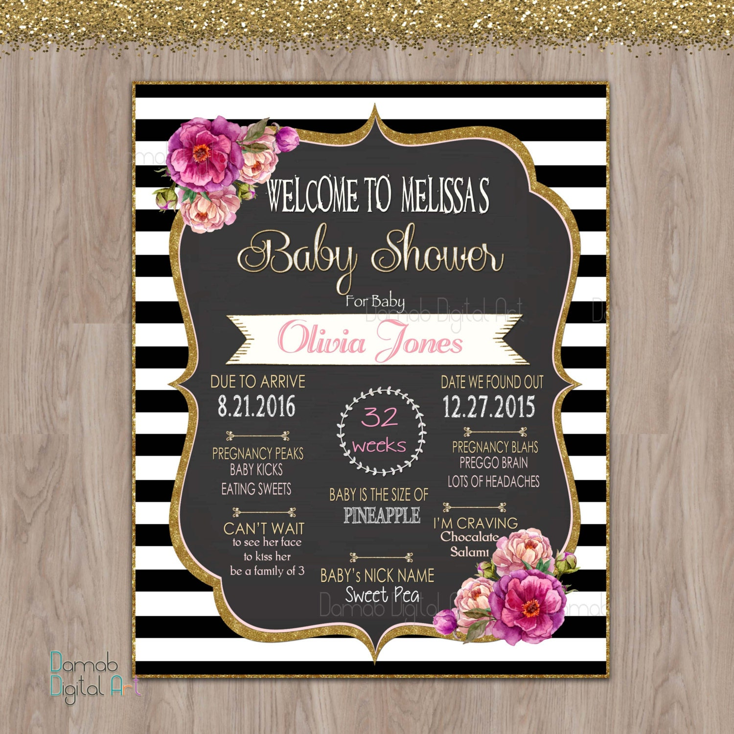Baby Shower Poster Baby Shower Mom To Be Poster Baby Shower