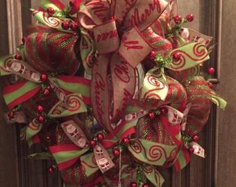 merry Christmas Ya'll bow Wreath