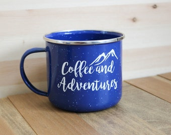 Coffee and Adventures Camping mug