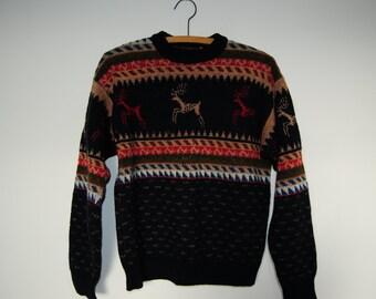 POST-HOLIDAY SALE!>> Vintage Lobo Pendleton Wool Reindeer Sweater