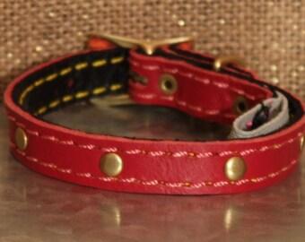 Rose Custom Leather Dog Collar