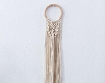 Macramé wall hanging // Boho wall hanging // Wooden hoop/ring