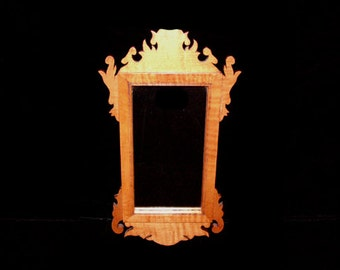 Chippendale Small Wood Mirror