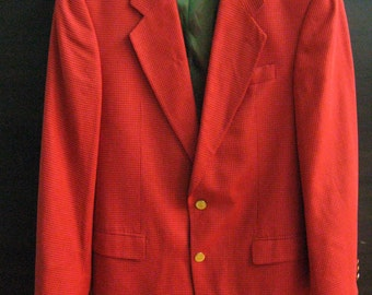 Aristokrat German made Men Brick Orange Golden Buttons Wool Jacket Chameleon Lining