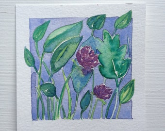 Original Watercolor, Summer Bloom I by Zarabeth Duell
