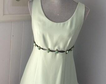 Minty Little Rosebud Dress