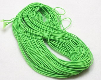 25 Yards (75 Feet) Bright Green 1mm Beading Elastic Cord