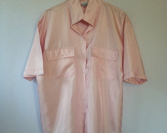 1980s pink boxy blouse by Summerfield