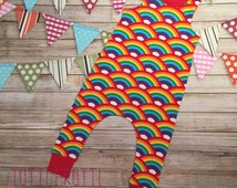 MADE TO ORDER Rainbow Dungarees   Znok Homosapien   Funky Trousers   Festival Wear   Boy Toddler   Girl Toddler   Baby