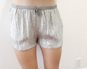 Vintage Women's 80's Disco Loose Fit-Shorts