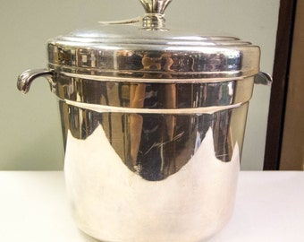 Vintage ice bucket, silverplate