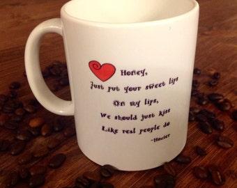 Kiss Like Real People Do, Hozier Mug, Valentine's Day gift, music lover gift, Hozier fan gift, funny mugs, coffee mug, tea mug