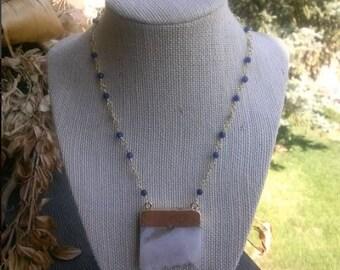 Quartz and Sapphire Necklace