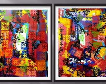 original Modern  painting , contemporary  art , abstract  painting,  the passion of love painting from abstract perspective