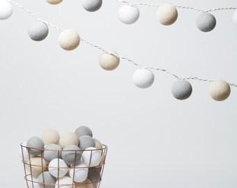 Vanille - Cotton ball Fairy light