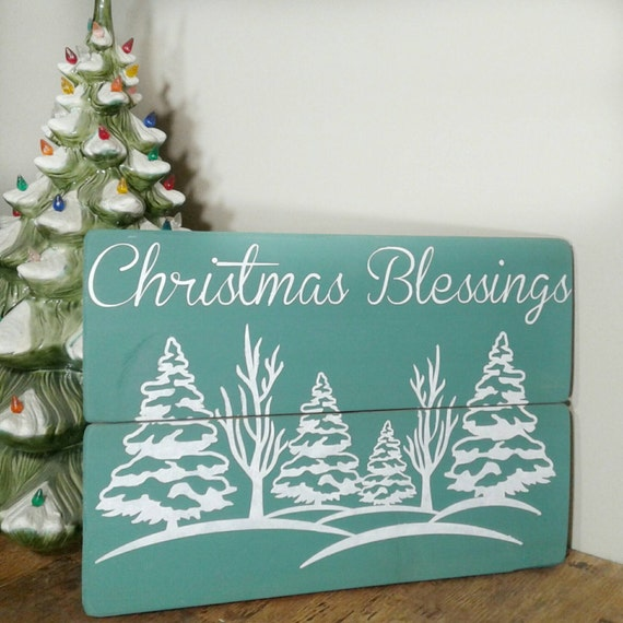 Blessings Home Decor: Items Similar To Christmas Wood Signs