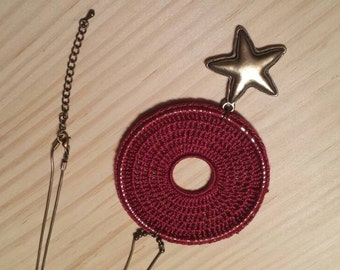 Long necklace with star pendant