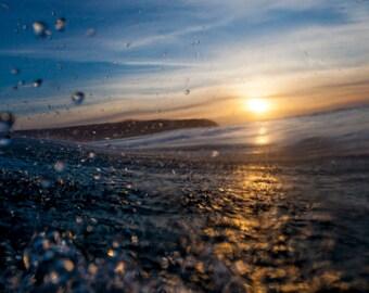 Sunset Waters - Ocean Photo Fine Art Hahnemühle Print - art prints, home decor, wall art, wall decor, digital prints.