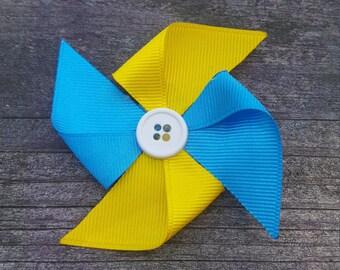Pinwheel Ribbon Sculpture Hair Clip
