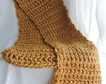 Gold Crocheted Scarf