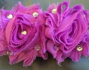 Handmade Shabby Chic Purple Rose Headband