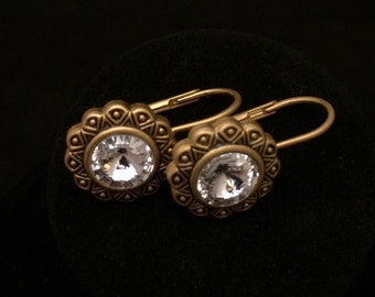 Vintage Costume Jewelry Dangle Earrings