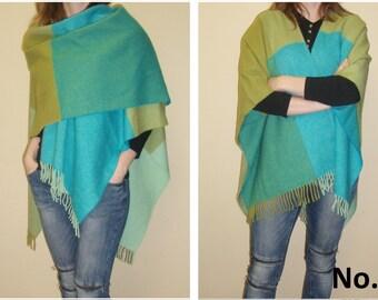 Wool poncho wrap (100% MERINO wool)