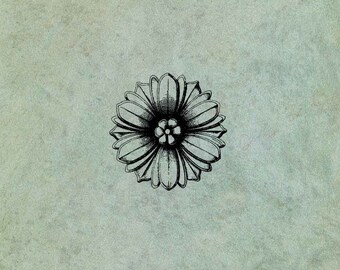 Flower (Small) - Antique Style Clear Stamp