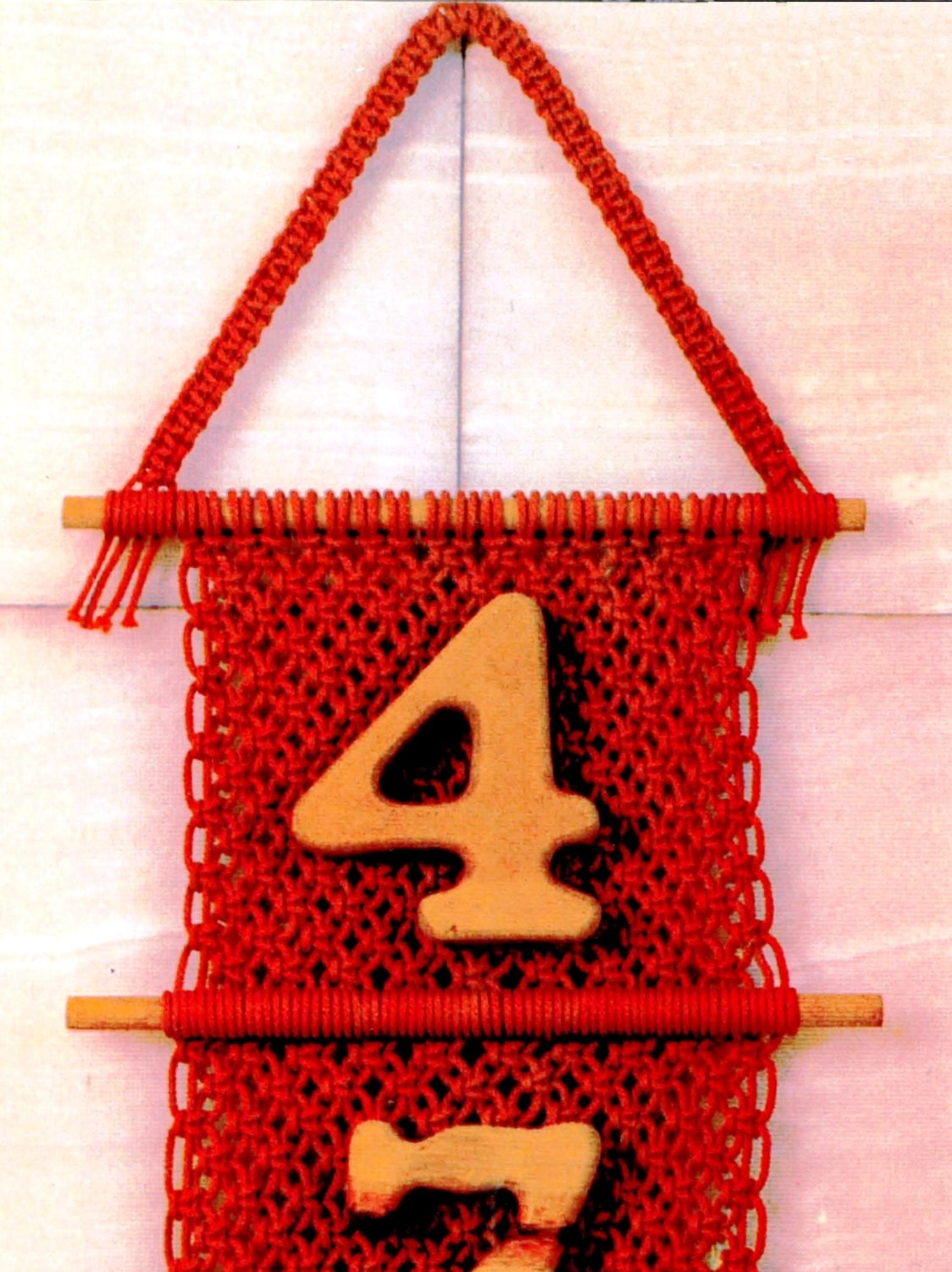 macrame wall hanging house number wall hanging home decor