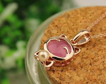 Pink Kitty Set Earrings & Pendant