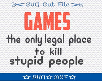 Gamer SVG File, SVG Cut File for Silhouette, Video Game svg, World of Warcraft, Diablo, Battlefield, Halo