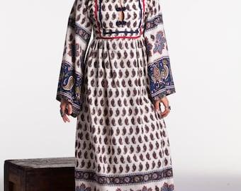 Paisley Print Empire Waist Dress
