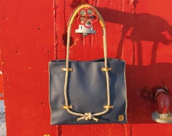Handmade Tote Bag / Summer / Bag / Hand Stitched Leather Bag / Tote bag / Handmade Bag / Large Bag