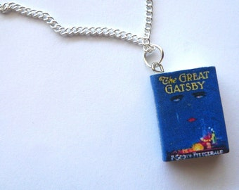 The Great Gatsby Mini Book Charm Necklace