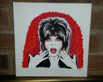 Elvira Original Painting on Canvas 10 x 10