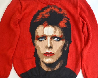 David Bowie handmade knit sweater