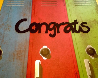 """Congrats Die Cuts! Large Congrats Die Cuts! The Word """"Congrats"""" Die Cuts!  About 8 inches Long! Sets of 5! Buy More, Save More!"""