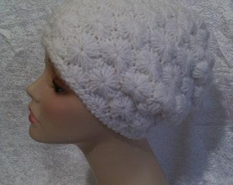 Women's Hat Crochet White Beanie Hat Accessories Beanie