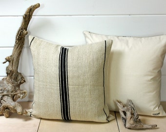 SALE European Grain Sack Pillow Cover