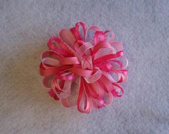 Shades of Pink Loopy Hair Bow