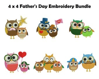 Father's Day Embroidery Designs | Happy Father's Day Machine Embroidery |  Daddy's Day Embroidery| Owl Embroidery| Father's Day Gift
