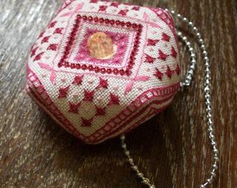 "Pincushion handmade embroidery biscornu ""Shovchiki"""