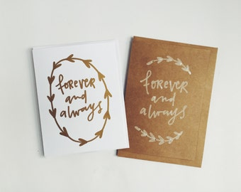 Forever & Always - Love Card