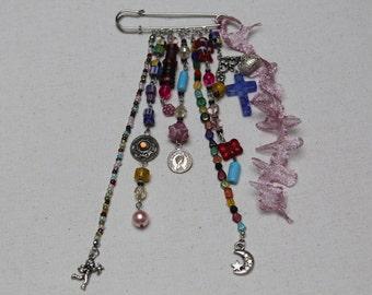MULTICOLOR Tutorial & DIY decorate Kilt pin