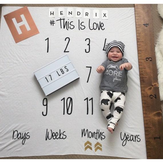 White Anniversary Blanket Milestone Blanket Monthly