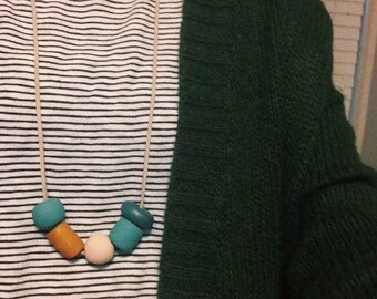 Homemade Clay Bead Long Necklace