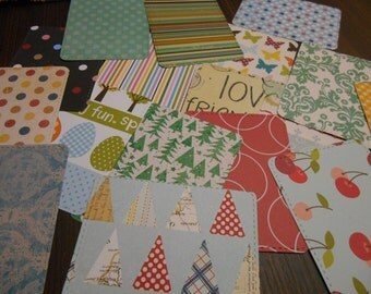 Handmade Diecut Cardstock Project Life Cards, Card Toppers, Scrapbook Embellishments